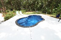 Crystal Cove Fiberglass Pool in Dallas, TX